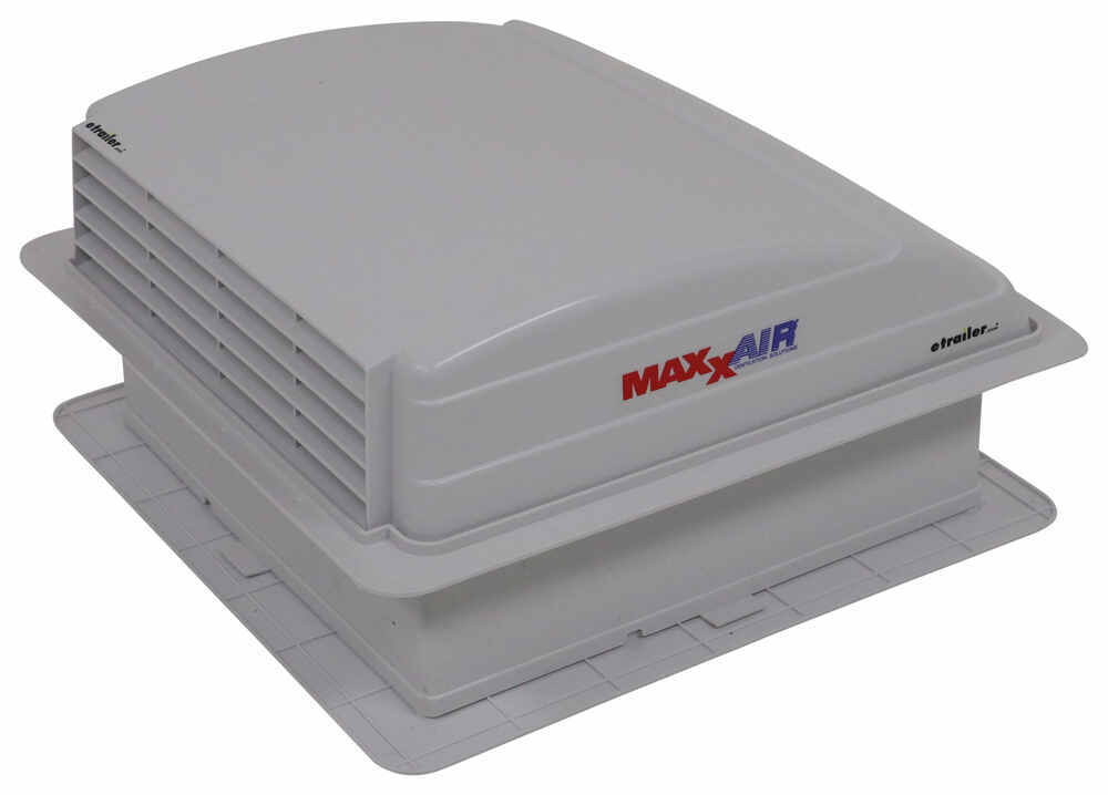 MaxxAir Mini Trailer Roof Vent - Manual - White No Fan MA00-03700