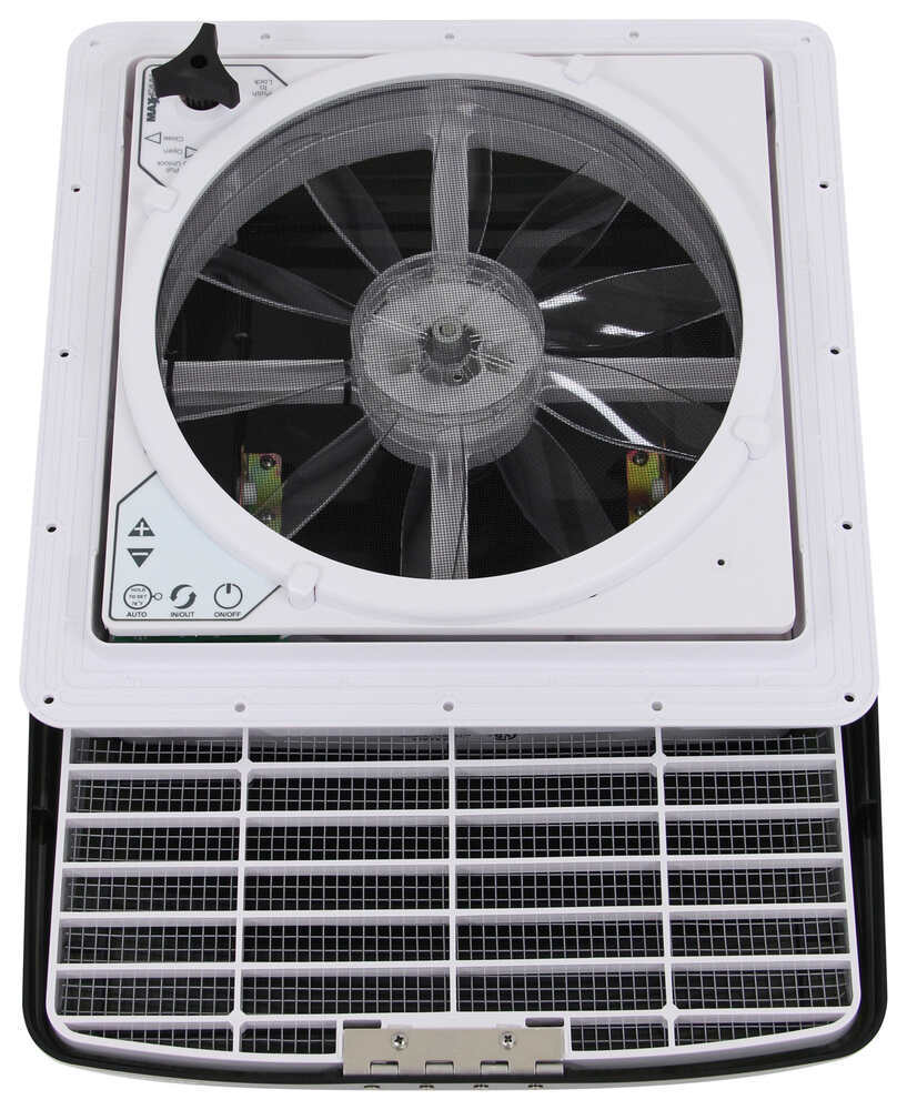 MaxxFan Deluxe Roof Vent w/ 12V Fan and Thermostat - Manual