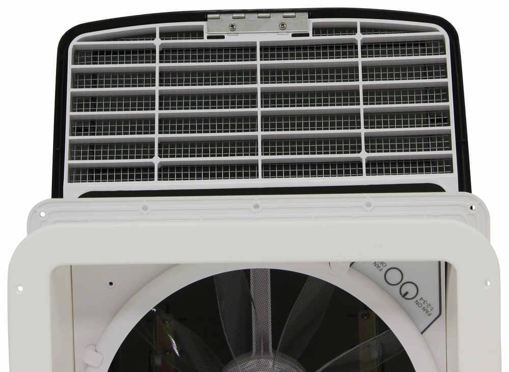 MaxxFan Deluxe Roof Vent w/ 12V Fan - Manual Lift - 4 Speed