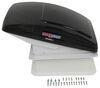 MaxxFan Deluxe Roof Vent w/ 12V Fan - Manual Lift - 4 Speed - Smoke Vent Assembly MA00-06401K
