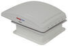 MaxxFan Deluxe Roof Vent w/ 12V Fan, Thermostat, and Remote - Powered Lift - 10 Speed - White 14W x 14L Inch MA00-07000K