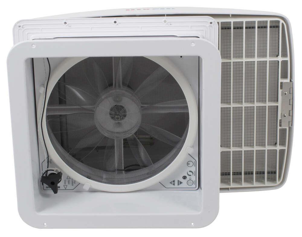 Maxxfan Deluxe Roof Vent W 12v Fan And Thermostat