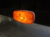 Trailer Clearance or Side Marker Light w/ Reflex Reflector - Rectangle - Amber Lens - White Base Surface Mount MC32AB