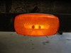 Trailer Clearance or Side Marker Light w/ Reflex Reflector - Rectangle - Amber Lens - White Base 4L x 2W Inch MC32AB