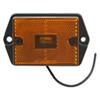 Rectangular Amber Ear Mount Trailer Clearance Side Marker Light with Reflector