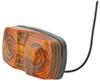 optronics trailer lights clearance non-submersible double bullseye side marker light two-bulb - amber