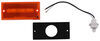 optronics trailer lights clearance rear side marker or light w/ reflector - incandescent amber lens
