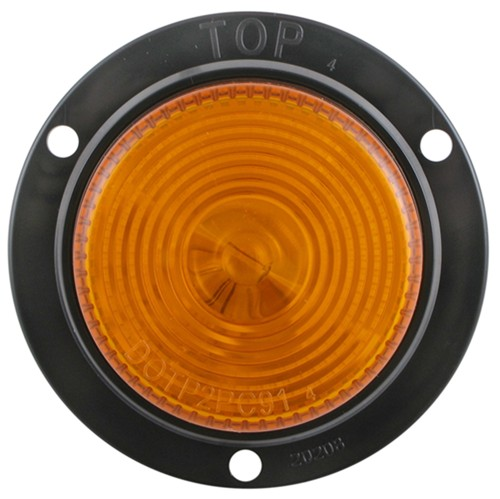 Sealed  2 U0026quot  Round  Side Marker And Clearance Light  Flange