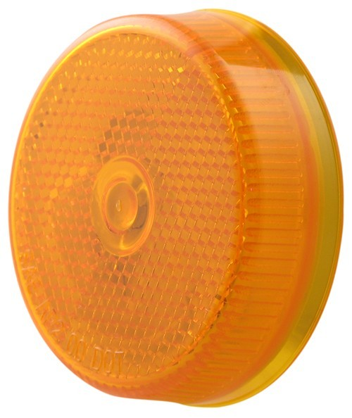 Sealed  2-1  2 U0026quot  Round Trailer Clearance  Side Marker Light With Reflector