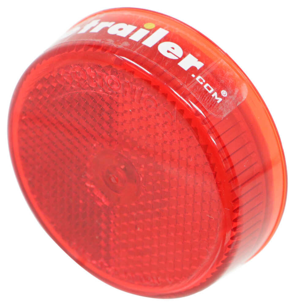 Optronics Trailer Clearance Or Side Marker Light Submersible Led With Reflector 2 Wire Incandescent Round Red Lens Lights Mc57rb