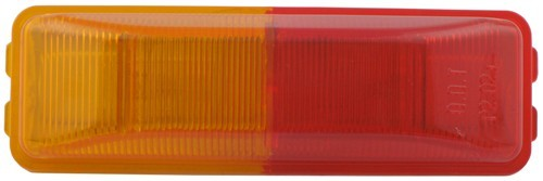 Optronics Incandescent Trailer Fender Light - Submersible - 2 Bulbs - Red/Amber Lens Red and Amber MC65ARB