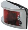 Side View of Red Chrome Plated Trailer Clearance Side Marker Light