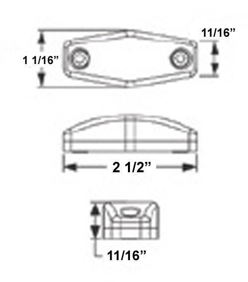 sealed  mini led marker  clearance or identification light