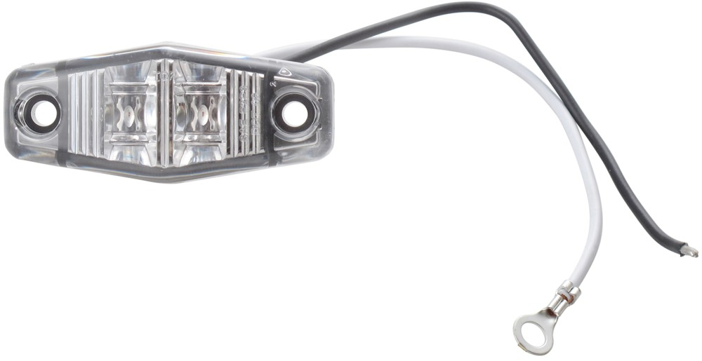 sealed  mini led marker  clearance or identification light  2 wire  2 diode   clear lens