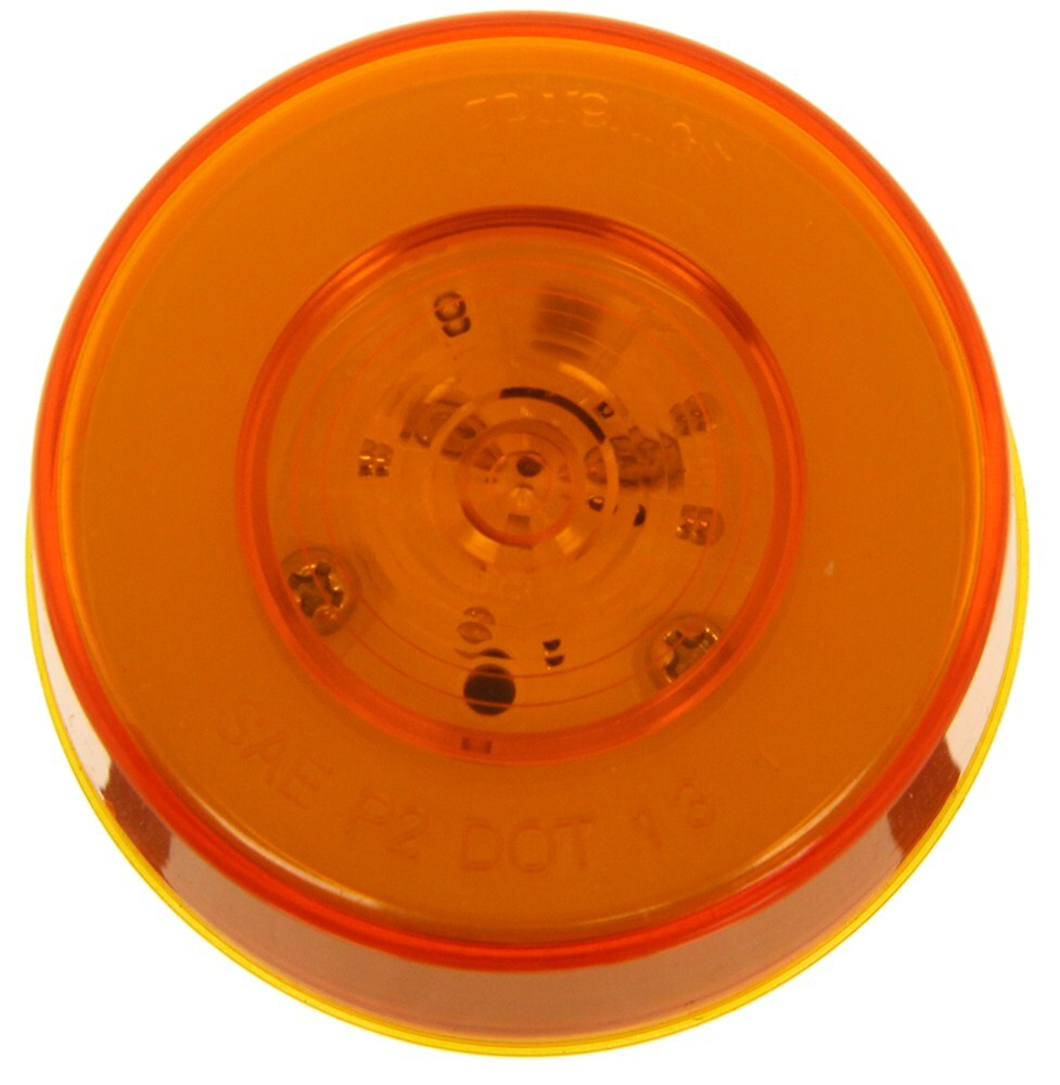GloLight LED Trailer Clearance or Side Marker Light - Submersible - 9 Diodes - Round - Amber Lens 2-1/2 Inch Diameter MCL157AB