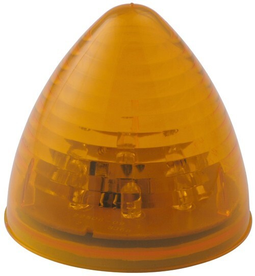 Optronics LED Trailer Clearance or Side Marker Light - Submersible - 8 Diodes - Beehive - Amber Lens Recessed Mount MCL23AB