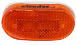 Optronics LED Clearance or Side Marker Light w/ Reflex Reflector - 6 Diodes - Oval - Amber Lens
