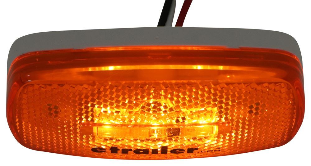 Clear Lens Amber//Red LED 88 LED Double Face Turn Signal Light