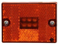 Optronics LED Clearance or Side Marker Light w/ Reflex Reflector - 6 Diodes - Square - Amber Lens