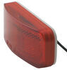Optronics LED Trailer Clearance or Side Marker Light w/ Reflector - 6 Diodes - Rectangle - Red Lens Red MCL44RB1