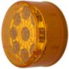 optronics trailer lights clearance submersible miro-flex led or side marker light w/ reflector - 9 diodes amber lens