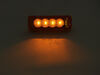 Miro-Flex Thinline LED Trailer Clearance or Side Marker Light - Sumbersible - 4 Diodes - Amber Lens Amber MCL63AB