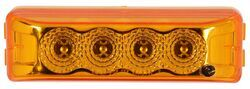 Miro-Flex Thinline LED Trailer Clearance or Side Marker Light - Sumbersible - 4 Diodes - Amber Lens