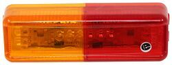 "Optronics Thinline LED Trailer Fender Light for Trailers Over 80"" Wide - 10 Diodes - Amber/Red"