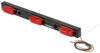 "Sealed, 3-Light Truck, Trailer Identification LED Light Bar, Black Base, 50"" Lead, 9 Diode -Red"