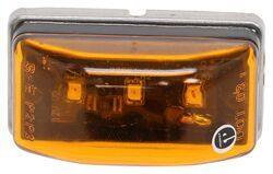 Optronics LED Clearance or Side Marker Light - Submersible - 3 Diodes - Rectangle - Amber Lens