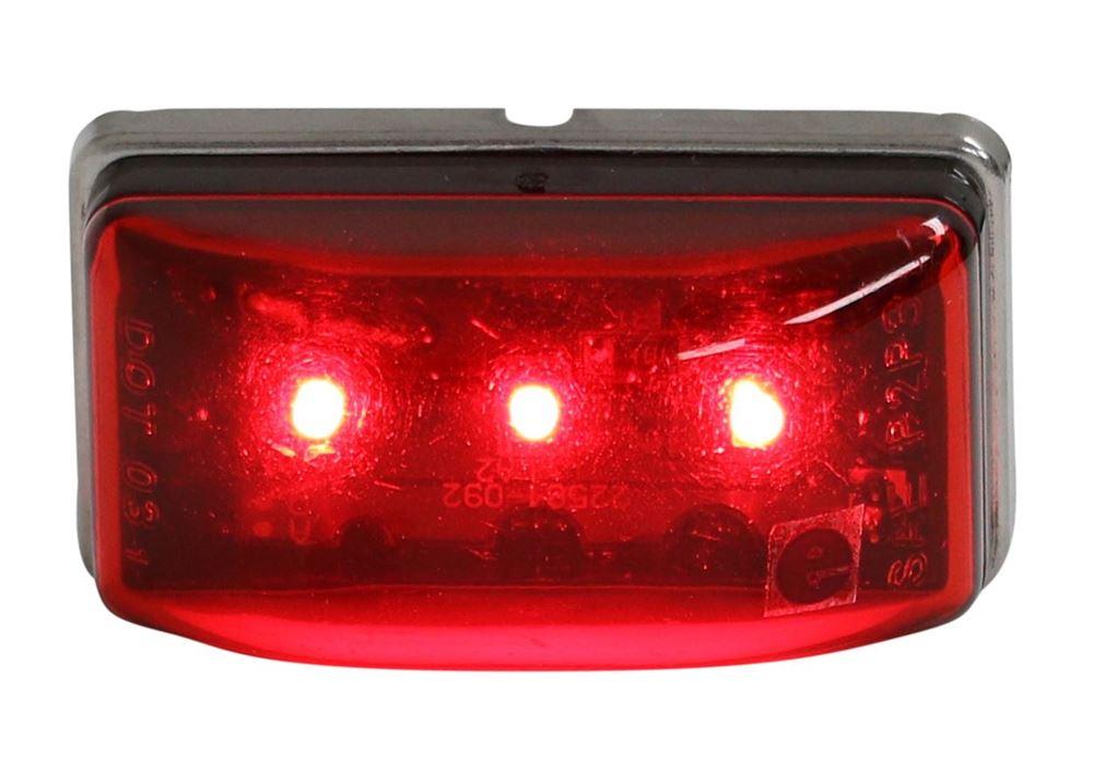 1 LED Light RED 1-1//8 x 2-1//8 stud mount Clearance marker trailer 3 diode
