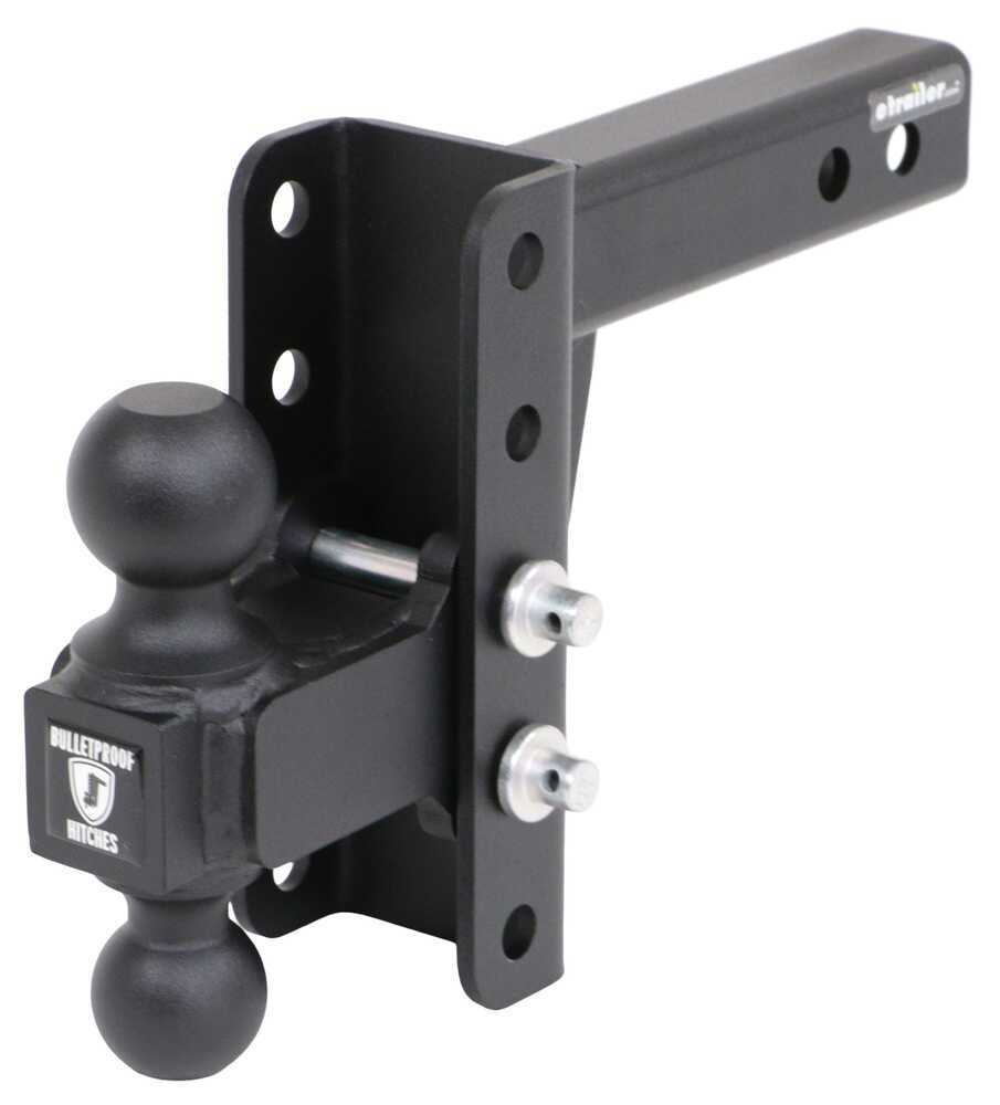 BulletProof Hitches Drop - 4 Inch,Rise - 4 Inch Ball Mounts - MD204