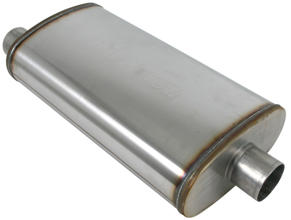 Free Flow Exhaust >> MagnaFlow Performance Muffler - Universal - Stainless Steel - Satin Finish MagnaFlow Mufflers ...