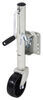 "Round Swivel Marine Jack w/ Wheel - Bolt On - Zinc - Sidewind - 10"" Travel - 1,000 lbs No Drop Leg MJ-1206B"