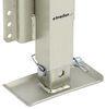 """Square Jack w/ Footplate - Drop Leg - Bolt On - Zinc - Sidewind - 29-1/8"""" Lift - 2.5K 2500 lbs MJSQ-2500B"""