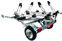 Malone MicroSport Trailer with Pilot TC ST Aluminum Bike Racks - 13' Long - 4 Bikes