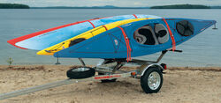 Malone MicroSport Trailer with Stax Pro Kayak Carrier - 13' Long - 4 Kayaks