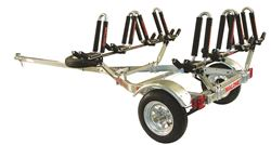 Malone MicroSport Trailer with J-Pro Kayak Carriers - 13' Long - 4 Kayaks