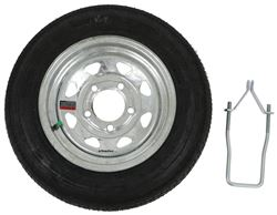 "Spare Tire for Malone MicroSport Trailer - 12"" Galvanized - Locking Attachment"