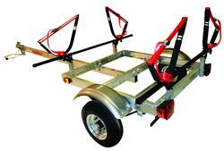 "Malone XtraLight Trailer with J-Style Kayak Carriers - 58"" Crossbars - 11' Long - 2 Kayaks"