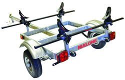 "Malone XtraLight Trailer with SaddleUp Kayak Carrier - 58"" Crossbars - 11' Long - 1 Kayak"