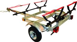 "Malone XtraLight Trailer with V-Style Kayak Carriers - 58"" Crossbars - 11' Long - 2 Kayaks"