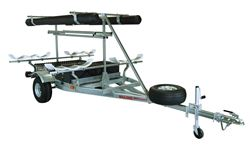 Malone Ultimate Angler MegaSport Trailer with Hobie Style Mounting Brackets - 14' Long - 2 Boat