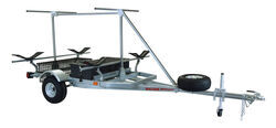 Malone MegaSport 2 Tier Trailer with MegaWing Kayak Cradles - 14' Long - 2 Boat