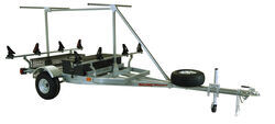 Malone MegaSport 2 Tier Trailer with SaddleUp Pro Kayak Cradles - 14' Long - 2 Boat