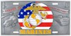 Marines Specialty Plate - 3D License Plate Full Plate MSP602