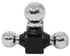 "MaxxTow Tri-Ball Mount for 2"" Hitches - Solid, Black Powder Coated Shank - Chrome Balls Three Balls MT70022"