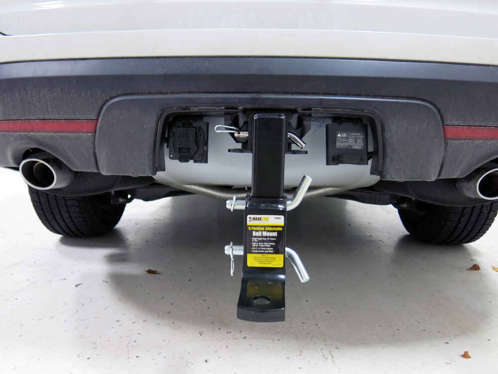 "Ford Explorer Towing Camper >> Ford Edge MaxxTow Adjustable-Height Ball Mount - 2"" Hitch - 10"" Drop, 8"" Rise - 5,000 lbs"