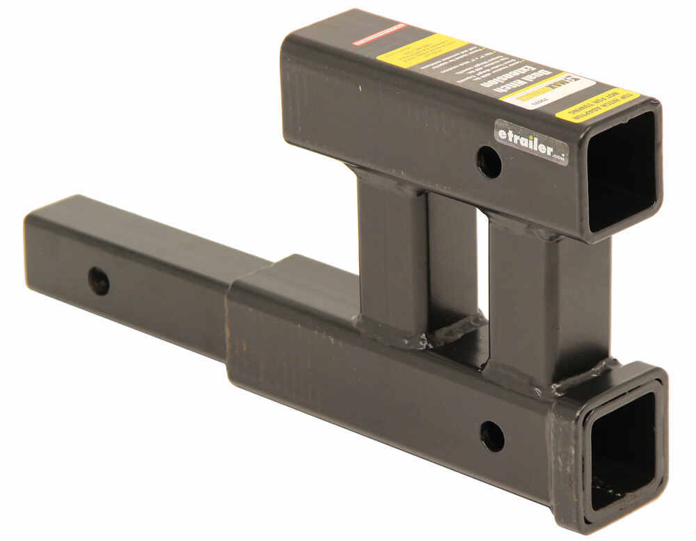 """MaxxTow Dual Hitch Extender for 2"""" Trailer Hitches - 12"""" Long 12 In Extension MT70070"""