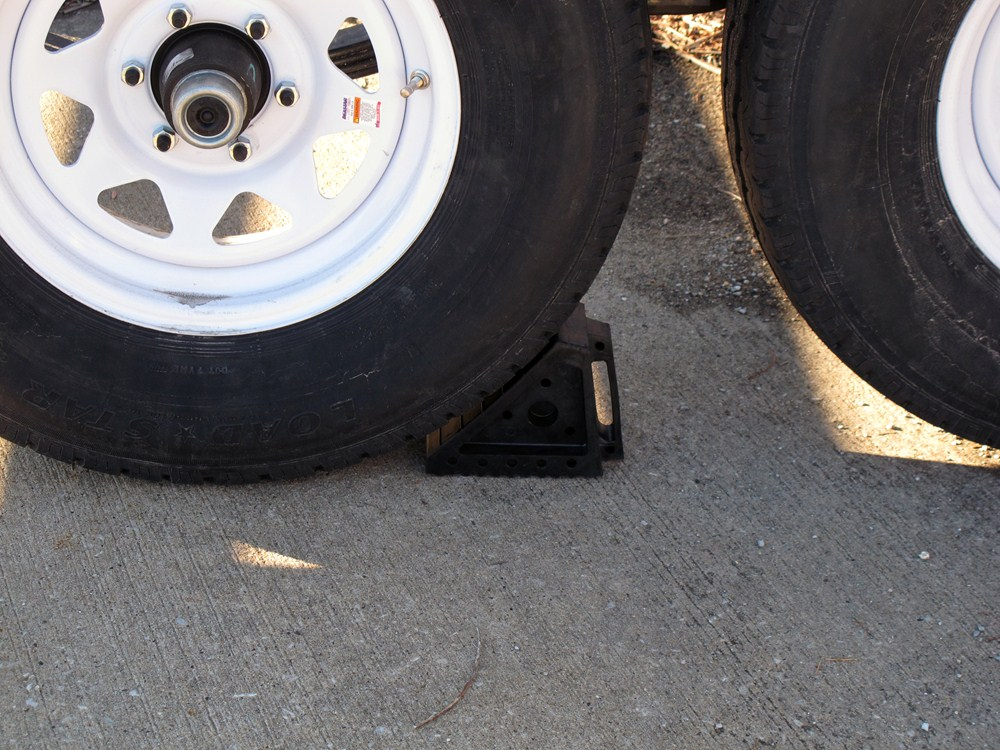 MaxxTow Wheel Chock with Handle - Solid Rubber MaxxTow ...